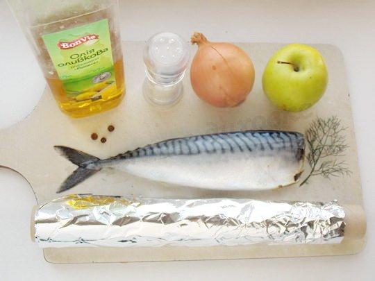 ингредиенты для рыбы с яблоками