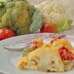 рецепт запеканки с брокколи и цветной капустой