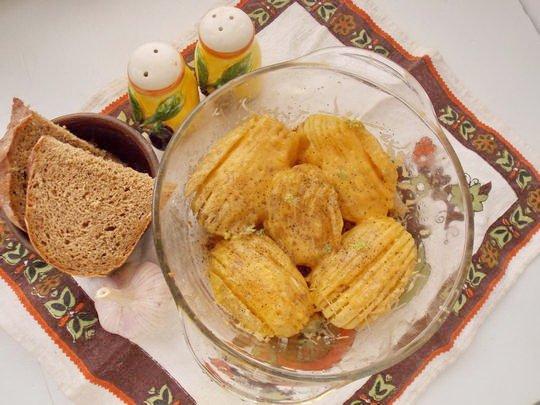 картофельные веера