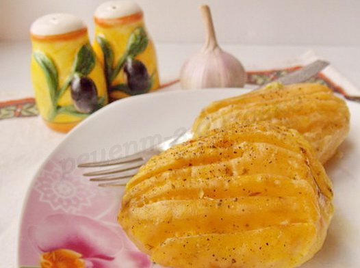 картошка веером под сыром