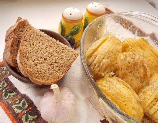 веера из картошки с сыром