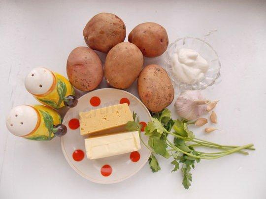 ингредиенты для картошки с чесночным маслом