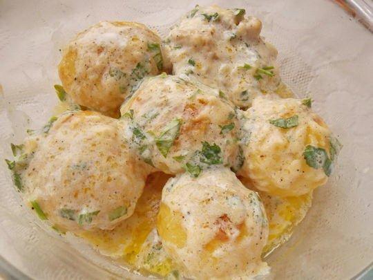 печёная картошка в чесночном масле