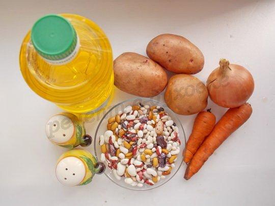 ингредиенты для супа из фасоли