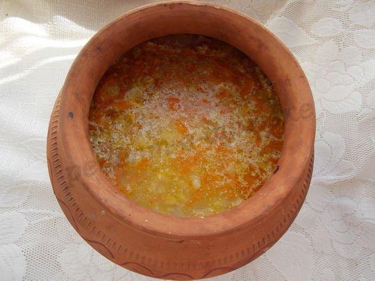 как приготовить в горшочке суп с горохом
