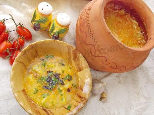 вкусный гороховый суп в духовке