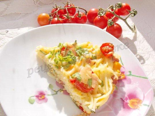 как приготовить запеканку из спагетти