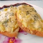 горячие бутерброды с картофельным пюре и сыром