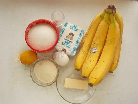 ингредиенты для творожно-бананового суфле