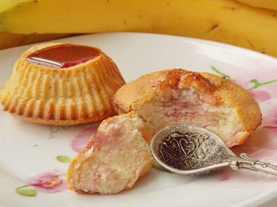 десерт из творога  с бананом в духовке