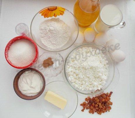 ингредиенты для австрийских блинчиков с творогом