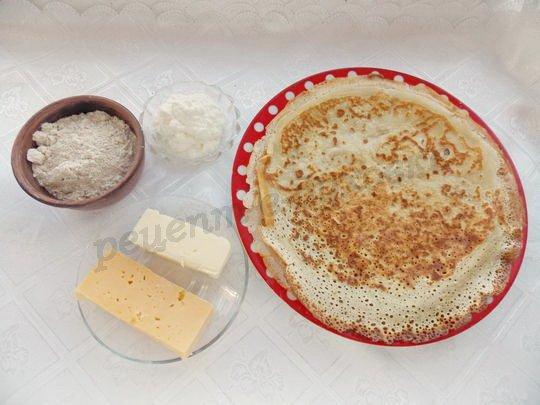 ингредиенты для блинов с толокном и сыром