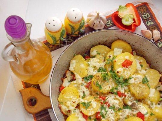 картофельная сковорода по-гречески