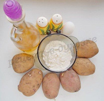 ингредиенты для картофельных лепёшек
