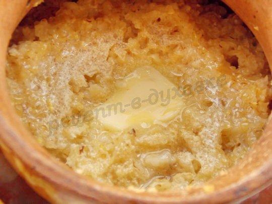 вкусная пшеничная каша в горшочках