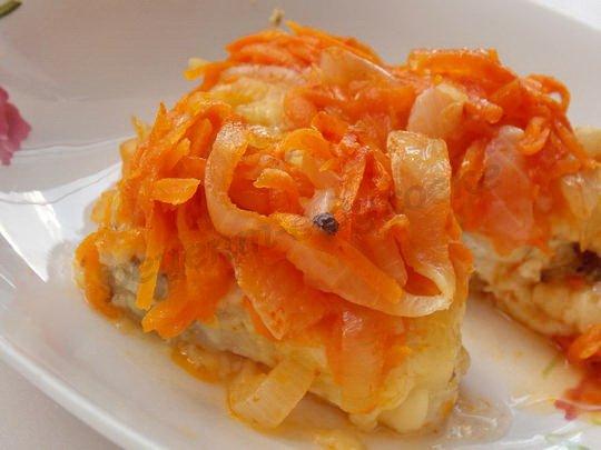 рецепт вкусной рыбы под овощами