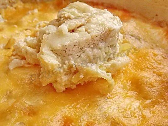 рыба в сметане с сыром