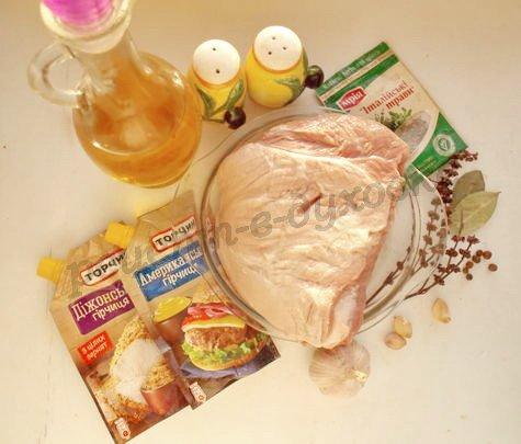 ингредиенты для мяса в горчице