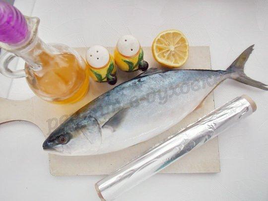 ингредиенты для тунца с лимоном