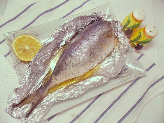 тунец, запечённый с лимоном