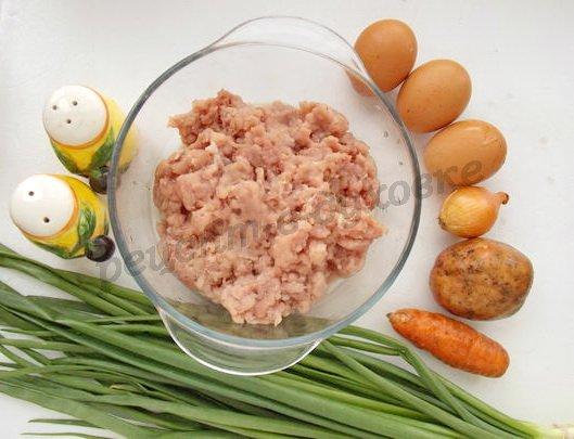 ингредиенты для зраз из фарша с яйцом