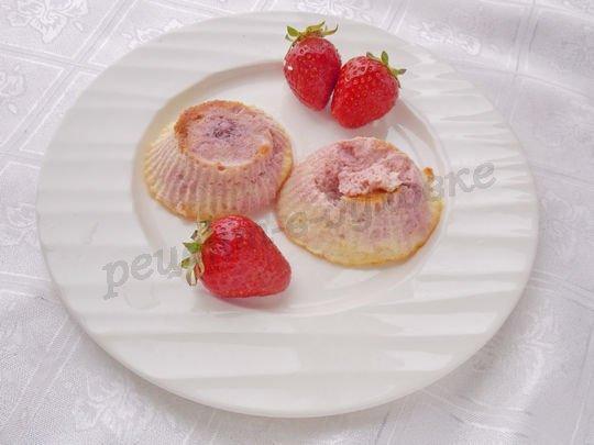 переворачиваем остывшее суфле на тарелку