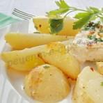 куриные грудки с молодой картошкой