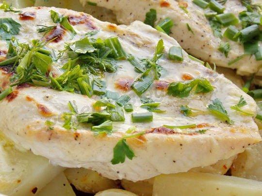 рецепт вкусных куриных грудок с картофелем