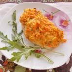 куриное филе под сыром и морковкой