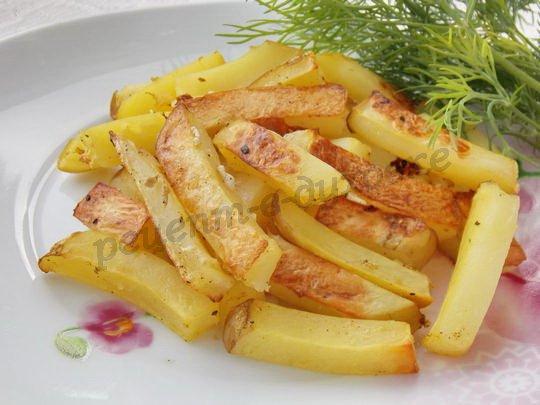 молодая картошка фри в духовке
