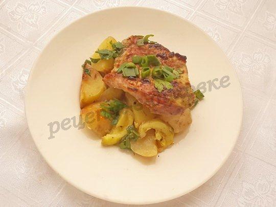 рецепт молодой картошки со свининой