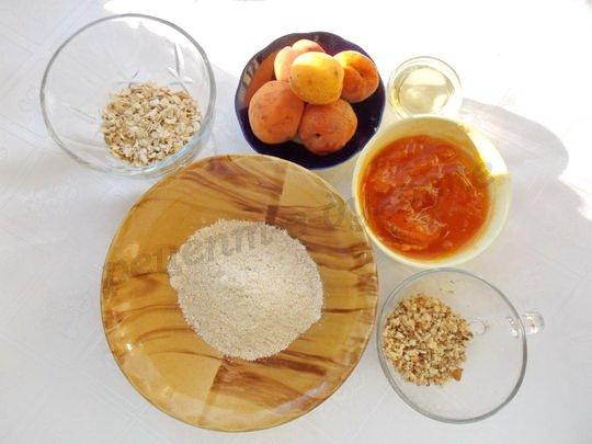 ингредиенты для крамбла с абрикосами