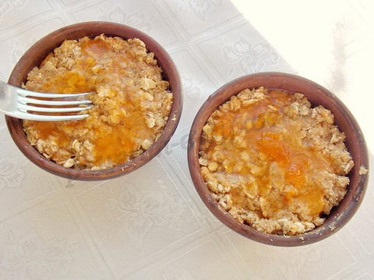 рецепт абрикосового крамбла