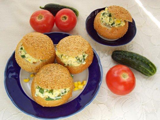 Бутерброды из булочек в духовке рецепты 92