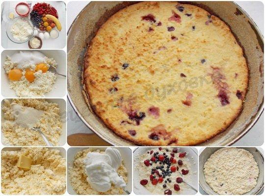 как приготовить творожную запеканку с ягодами