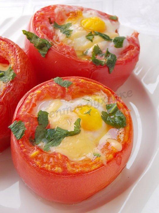 рецепт яичницы с помидорами в духовке