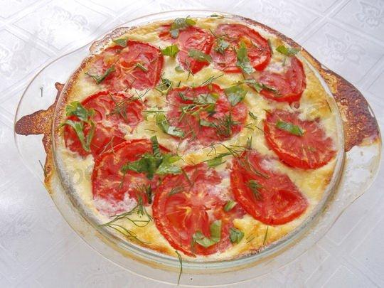 рецепт запеканки из куриных грудок с помидорами