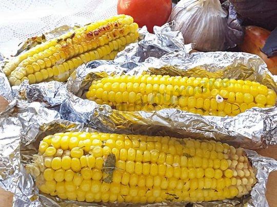 рецепт печёной кукурузы