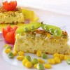 Омлет с зелёным горошком и кукурузой