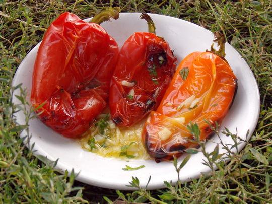 рецепт перцев на костре