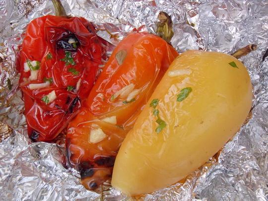 болгарский перец на костре