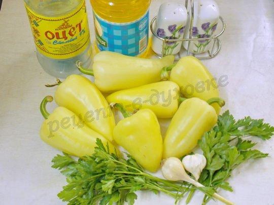 ингредиенты для перцев с чесноком