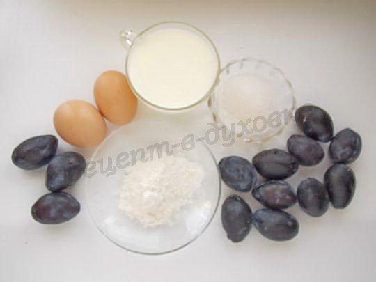 ингредиенты для флоньярда со сливами