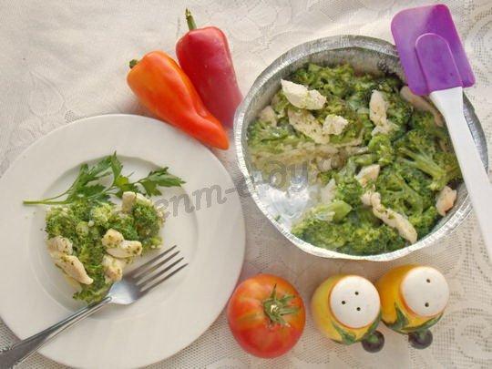 рецепт брокколи с курицей