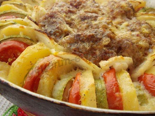 Картошка кабачки мясо рецепт с пошагово