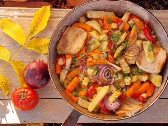мясо тушеное в тыкве в духовке рецепт с фото