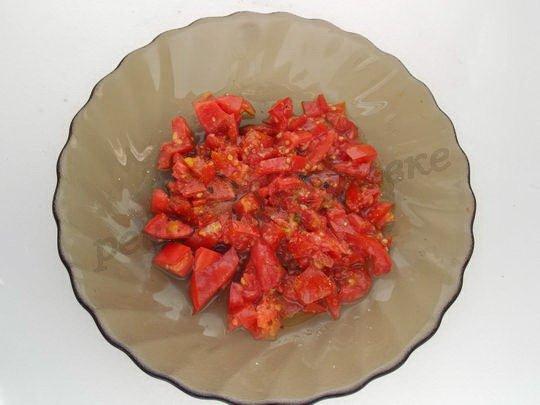 заправляем помидоры
