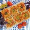 Слоёные мини-пиццы с куриной грудкой и сладким перцем