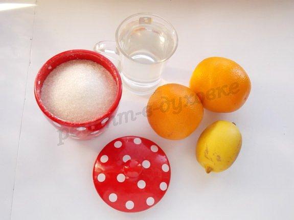ингредиенты для домашних цукатов