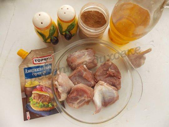 ингредиенты для свинины с горчицей